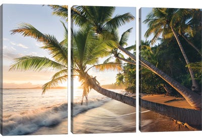 Secret Beach, Caribbean Canvas Art Print