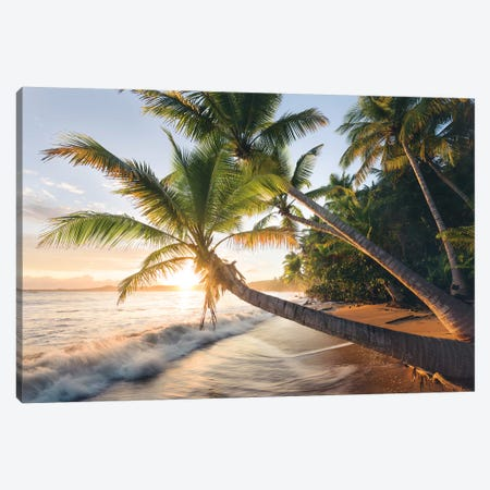 Secret Beach, Caribbean Canvas Print #STF145} by Stefan Hefele Canvas Artwork