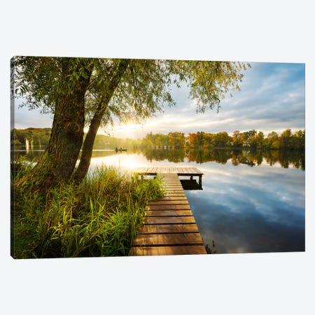 Autumnal Morning Canvas Print #STF14} by Stefan Hefele Art Print