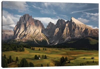 The Coronation Of The Alps Canvas Art Print