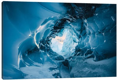 The Eye Of The Glacier - Alaska Canvas Art Print