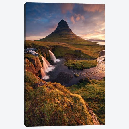 The Fabulous Mountain - Iceland Canvas Print #STF158} by Stefan Hefele Canvas Artwork