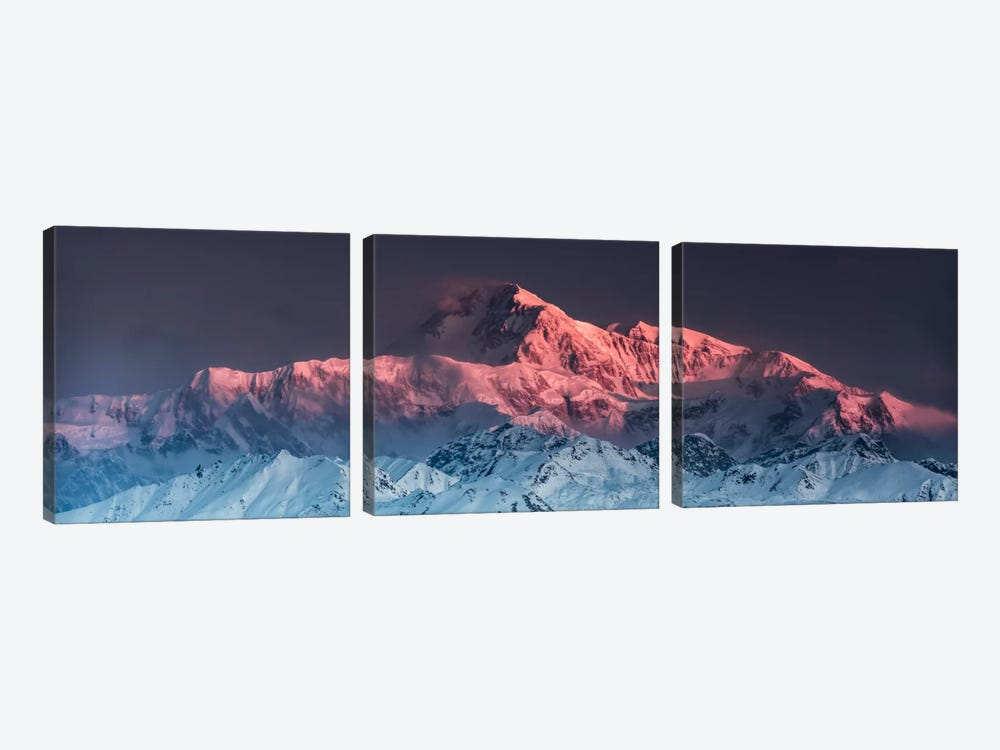 Awe - Mount McKinley by Stefan Hefele 3-piece Canvas Artwork