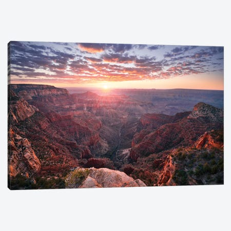 The Grand Canyon Canvas Print #STF161} by Stefan Hefele Canvas Art Print