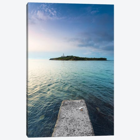 The Lighthouse Island Canvas Print #STF165} by Stefan Hefele Canvas Wall Art