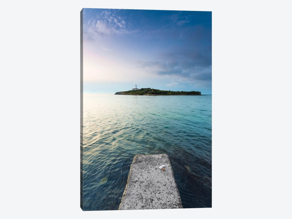 The Lighthouse Island by Stefan Hefele 1-piece Canvas Print