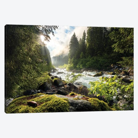 The Lost Valley Canvas Print #STF166} by Stefan Hefele Canvas Wall Art