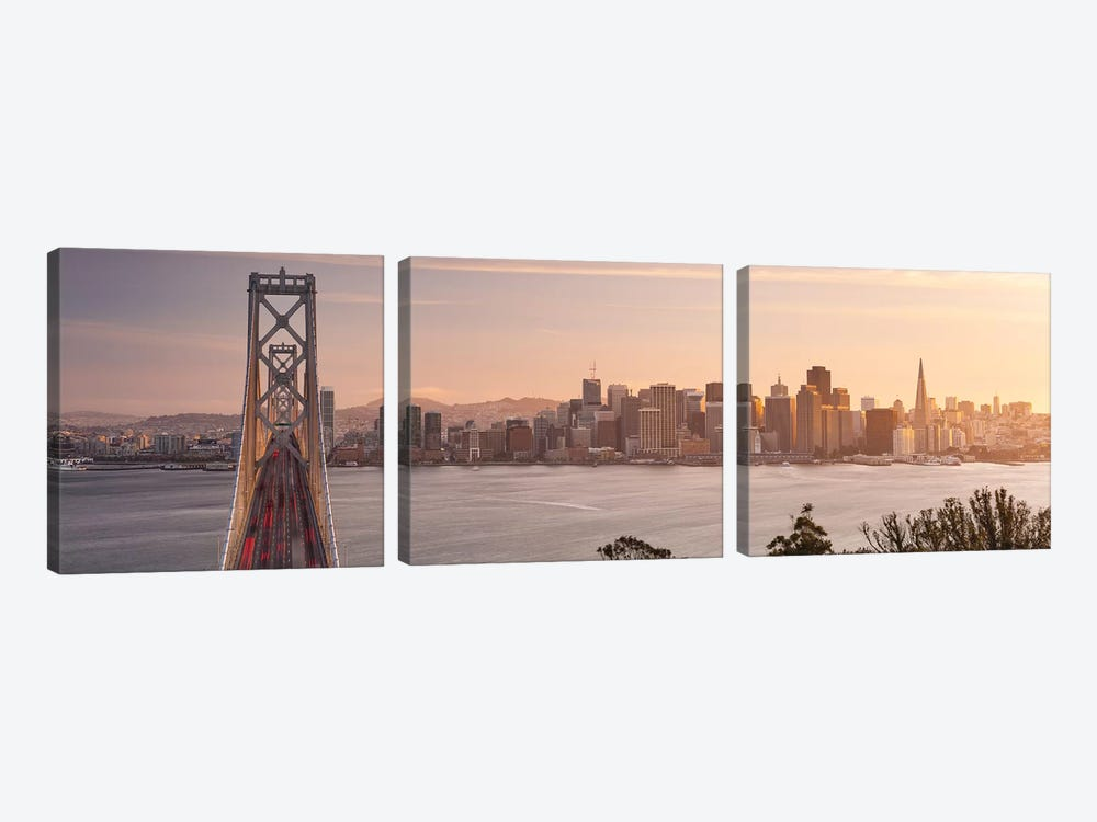 Touch Of Bronze - San Francisco by Stefan Hefele 3-piece Canvas Art Print