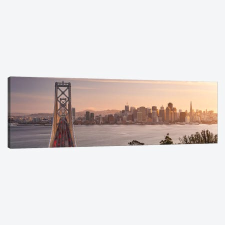 Touch Of Bronze - San Francisco 3-Piece Canvas #STF169} by Stefan Hefele Art Print