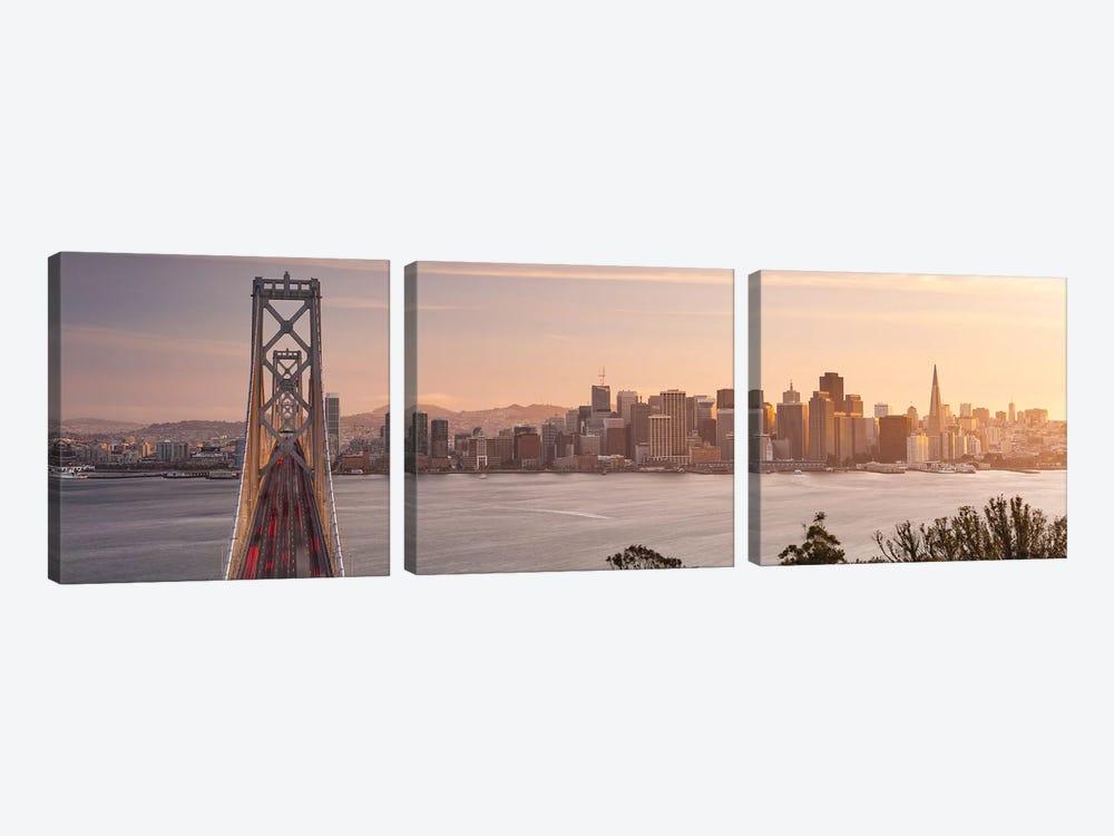 Touch Of Bronze - San Francisco by Stefan Hefele 3-piece Canvas Art Print
