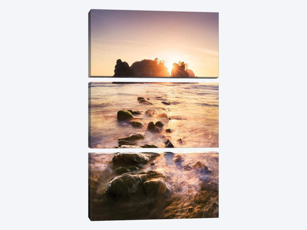 Treasure Island - Point Of Arches by Stefan Hefele 3-piece Canvas Art Print
