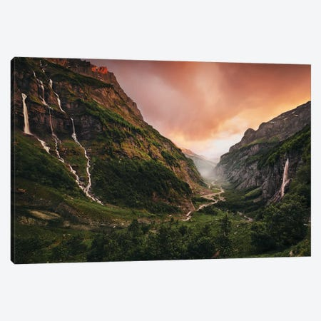 Vallée Eden Canvas Print #STF178} by Stefan Hefele Canvas Art