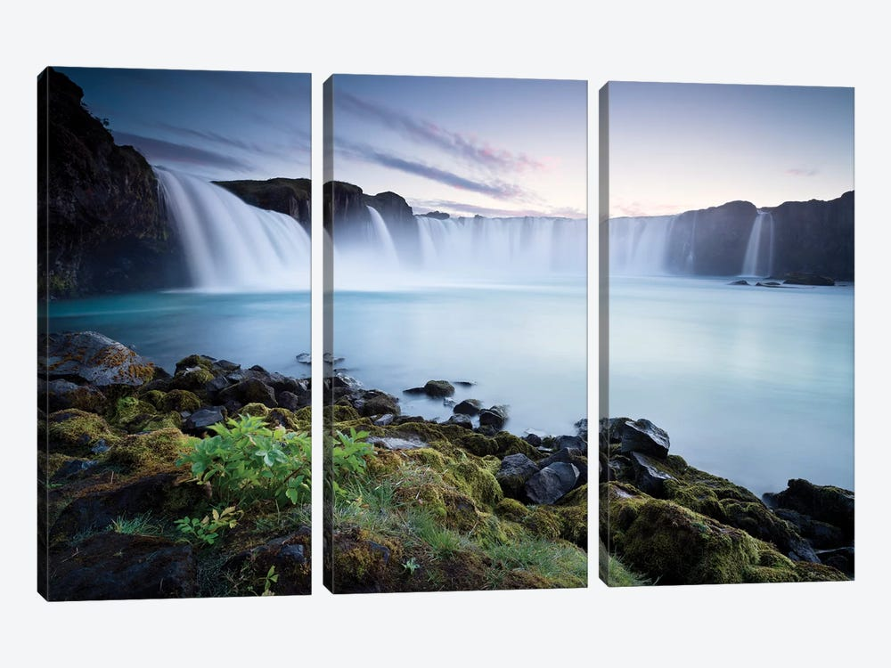 Waterfall Of The Gods by Stefan Hefele 3-piece Canvas Print
