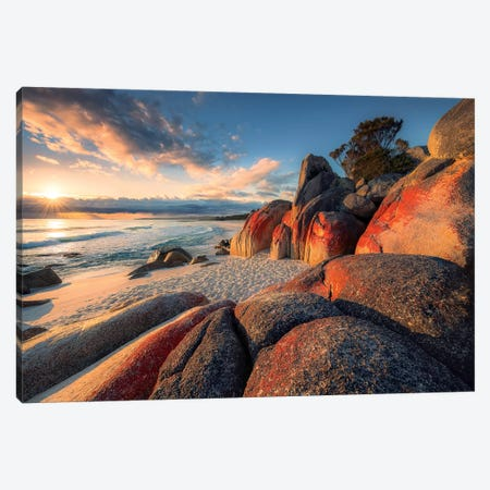Bay of Fires Canvas Print #STF188} by Stefan Hefele Canvas Print