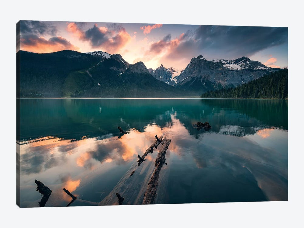 Burning Emerald by Stefan Hefele 1-piece Canvas Print