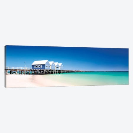 Busselton Jetty Canvas Print #STF192} by Stefan Hefele Canvas Artwork