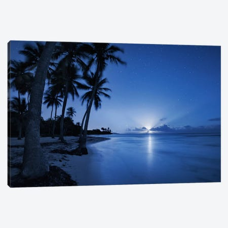 Blue Island, Caribbean Canvas Print #STF19} by Stefan Hefele Canvas Art