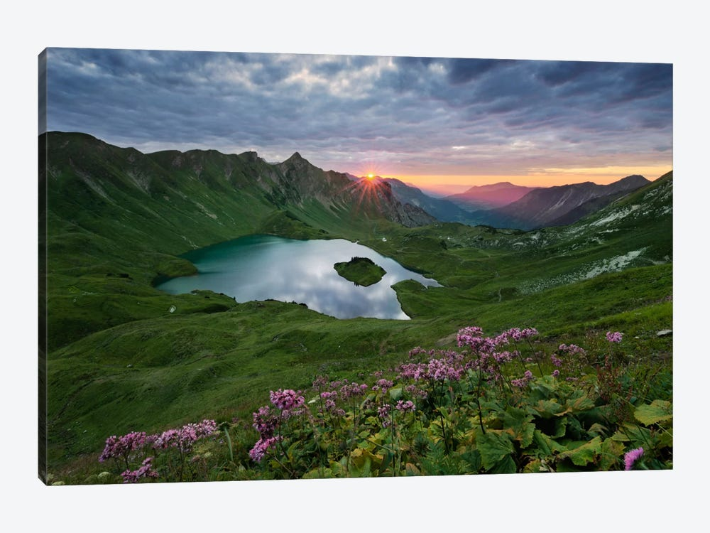 30 Seconds Light, The Alps by Stefan Hefele 1-piece Canvas Wall Art