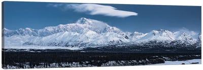 Blue Mount McKinley Canvas Art Print