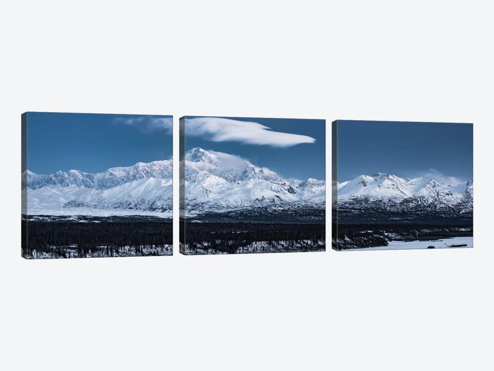 Blue Mount McKinley by Stefan Hefele 3-piece Canvas Art