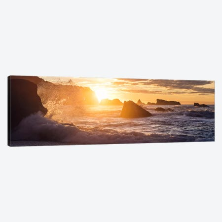 Golden Splash Canvas Print #STF219} by Stefan Hefele Art Print