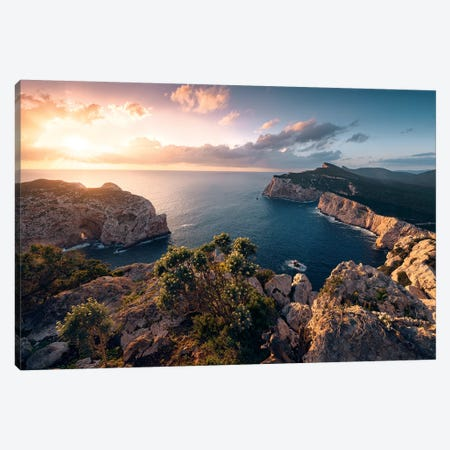 Mediterranean Spectacle Canvas Print #STF235} by Stefan Hefele Canvas Wall Art
