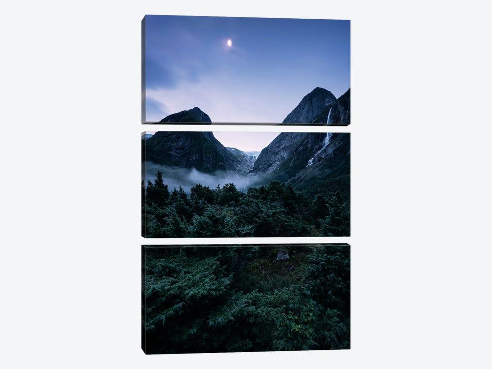 Moonaffaire by Stefan Hefele 3-piece Canvas Print