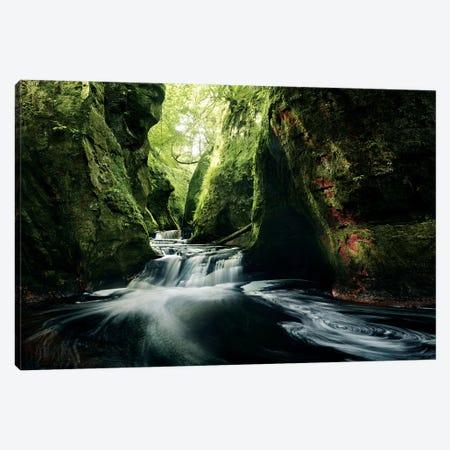 The secret Canyon Canvas Print #STF251} by Stefan Hefele Art Print