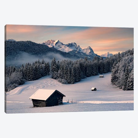Winteridyll Canvas Print #STF259} by Stefan Hefele Canvas Art Print