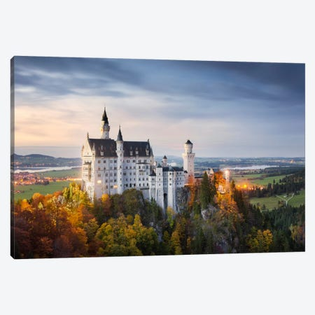 Castle Neuschwanstein, Schwangau, Germany Canvas Print #STF25} by Stefan Hefele Canvas Artwork