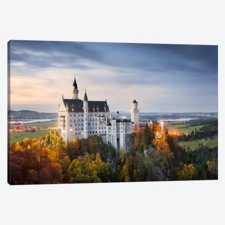 Castle Neuschwanstein, Schwangau, Germany 3-Piece Canvas #STF25} by Stefan Hefele Canvas Artwork