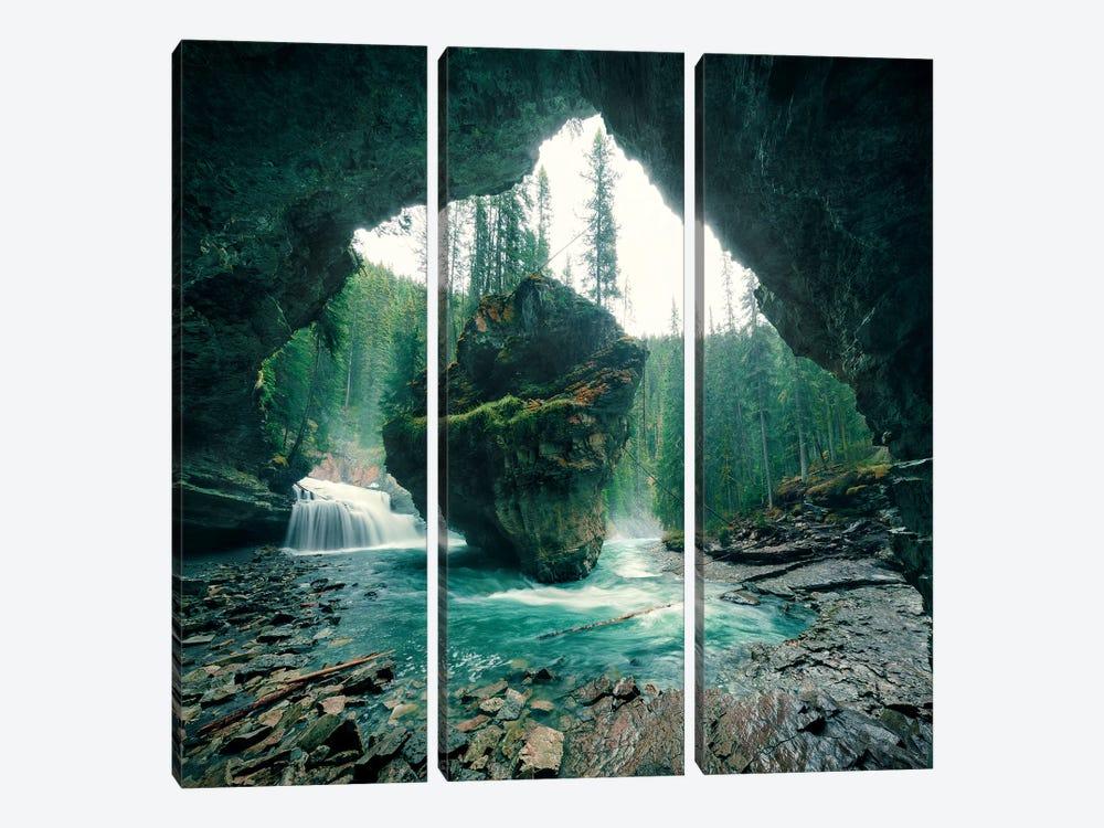 Wizard´s Cave by Stefan Hefele 3-piece Canvas Wall Art