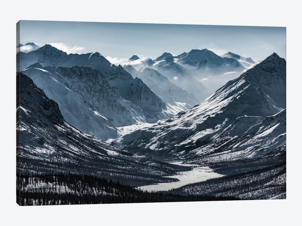 Chugach Mountains, Alaska 1-piece Canvas Art Print