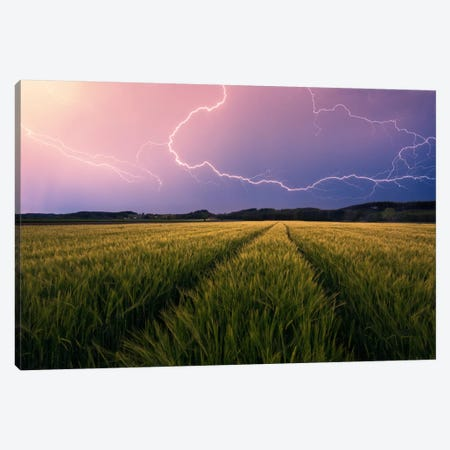 Country Storm Canvas Print #STF34} by Stefan Hefele Canvas Print
