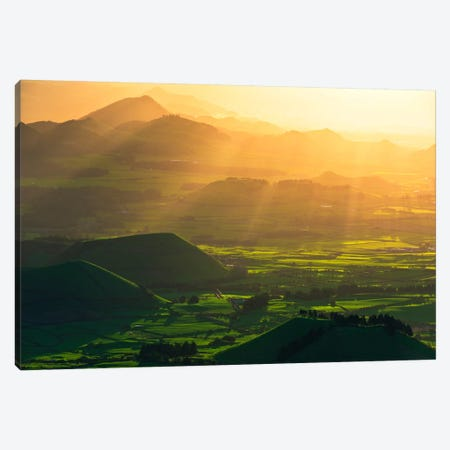 Crater Land, Azores Canvas Print #STF35} by Stefan Hefele Art Print