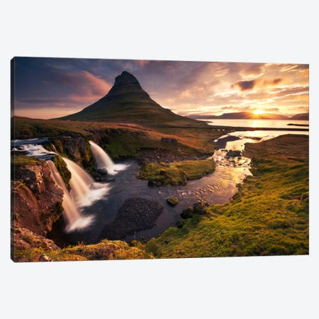 Dreaming Of Iceland Canvas Print #STF47} by Stefan Hefele Canvas Wall Art