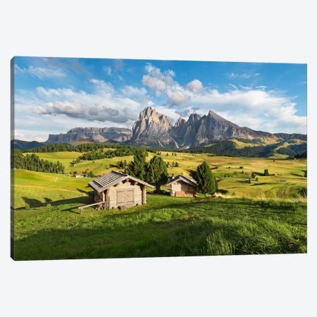 Alpe di Siusi, Alpine Meadow In Italy Canvas Print #STF6} by Stefan Hefele Art Print