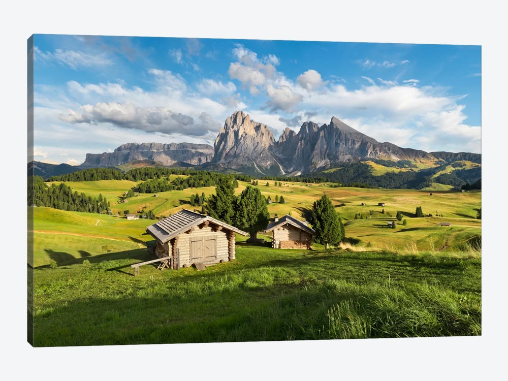 Alpe di Siusi, Alpine Meadow In Italy by Stefan Hefele 1-piece Canvas Print