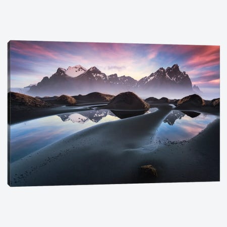 Glowing Vestrahorn, Iceland Canvas Print #STF70} by Stefan Hefele Canvas Wall Art