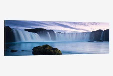 Godafoss Canvas Print #STF72} by Stefan Hefele Canvas Wall Art