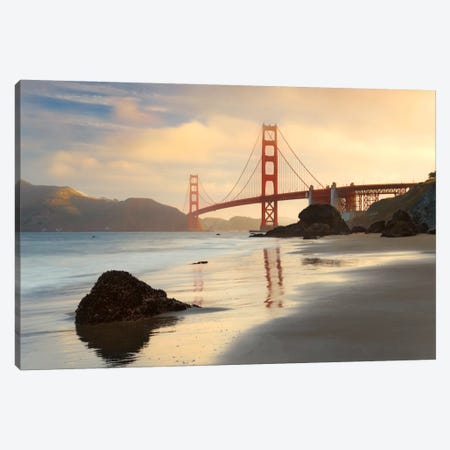 Golden Gate Canvas Print #STF75} by Stefan Hefele Canvas Art Print