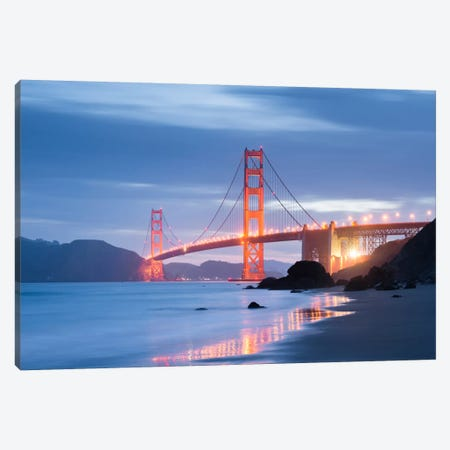 Golden Gate Blues Canvas Print #STF76} by Stefan Hefele Canvas Print