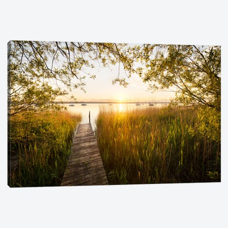 Golden View Canvas Print #STF79} by Stefan Hefele Canvas Art