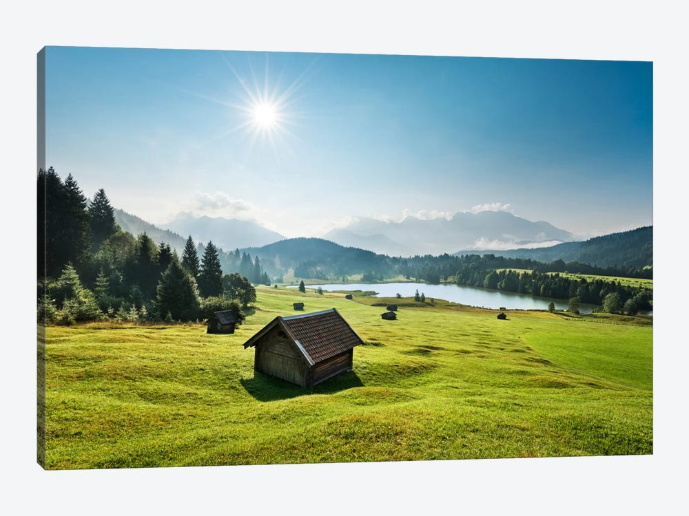 Idyllic Alps 1-piece Canvas Wall Art