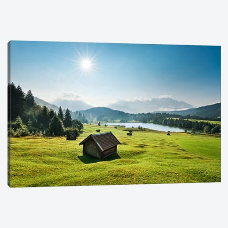 Idyllic Alps Canvas Print #STF84} by Stefan Hefele Canvas Artwork