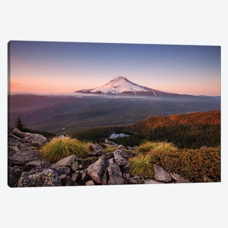 Kingdom Of A Mountain - Mount Hood, Oregon Canvas Print #STF94} by Stefan Hefele Art Print