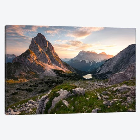 Alpine Paradise Canvas Print #STF9} by Stefan Hefele Canvas Artwork