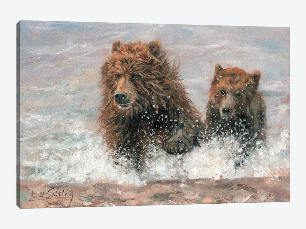 The Bears Are Coming by David Stribbling 1-piece Canvas Print
