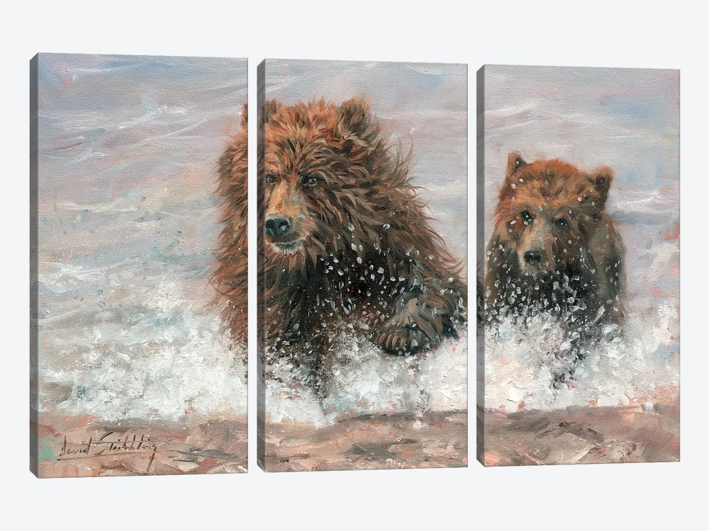 The Bears Are Coming by David Stribbling 3-piece Art Print