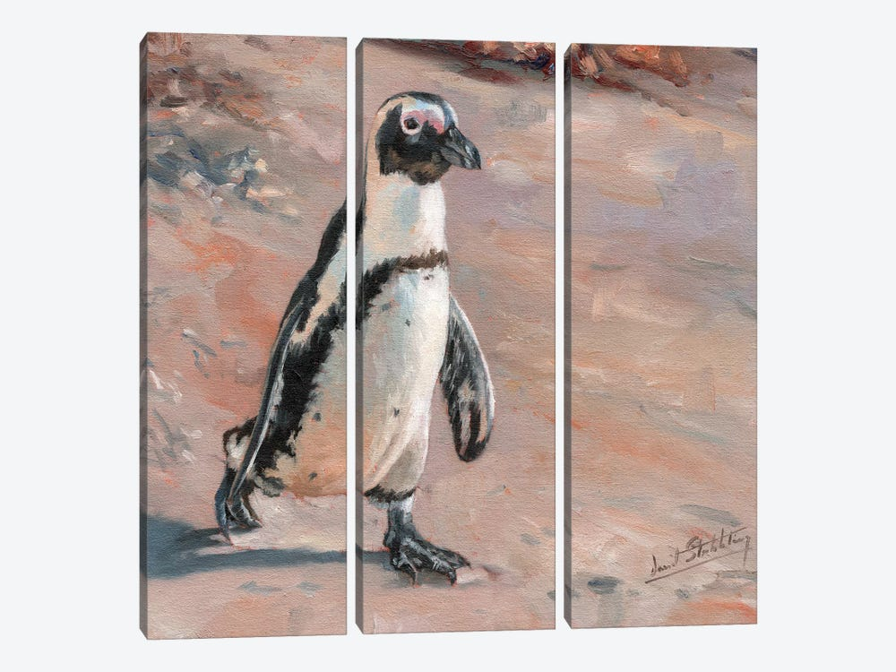 Beach Stroll by David Stribbling 3-piece Canvas Art Print